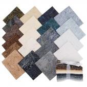 Tonga Treats Batiks - Colorwheel Earth Fat Quarter Bundle