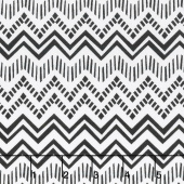 Sunny Days - Zig Zag Stripe White Black Yardage