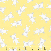 Penned Pals Flannel - Yellow Colorstory Bears Yellow Yardage