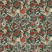Garden Delights III - Hexagons Red Yardage