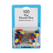100 Flat Flower Pins