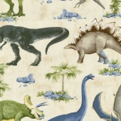 Animals - Dinosaur Scenic Yardage
