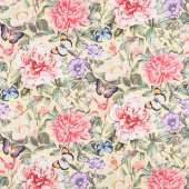 Botanica - Feature Floral Yellow Multi Digitally Printed Yardage