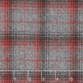 Mammoth Flannel - Plaid Grey Yardage