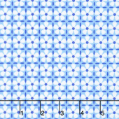 Confetti - Flower Grid Blue Yardage