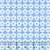 Confetti - Flower Grid Blue Yardage