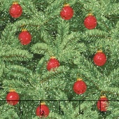 Merry, Berry, and Bright - Brilliant Baubles Radiant Pine Metallic Yardage