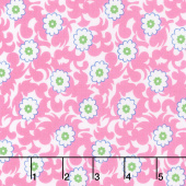 Flower Sacks - Fancy Flowers Pink Yardage