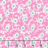 Flower Sacks - Fancy Flowers Pink Yardage