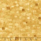Gustav Klimt - Squares Tan Metallic Yardage