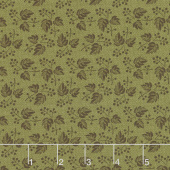 Baltimore House - Leaves & Berries Green Yardage