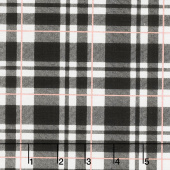 Glam Girl - Plaid Black Metallic Yardage
