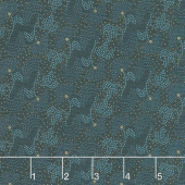 Blush and Blue - Vintage Blooms Blue Yardage
