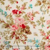 Aubrey - Floral Cream Yardage