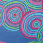 """The Kaffe Fassett Collective - Circles Blue 108"""" Wide Backing"""