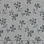 Blackwood Cottage - Dotted Floral Dark Gray Yardage