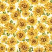 Shades of the Season 10 - Sunflowers Sunflower Metallic Yardage