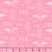 FFA Forever Blue - Logo Pink Yardage