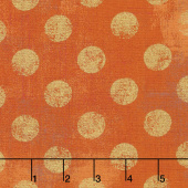 Grunge Hits the Spot - Pumpkin Metallic Yardage