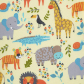 Winterfleece Prints Children - Jungle Animals Butter Yardage