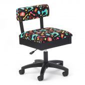 Hydraulic Sewing Notions Sewing Chair - Black