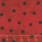 Most Wonderful Time Flannel - Big Dots Red Black Yardage