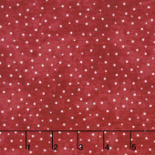 The Little Things - Sprinkled Dots Red/Natural Yardage