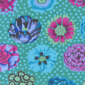 Kaffe Classics - Big Blooms Emerald Yardage