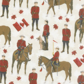 Canadian Classics - Mountie Cream Digitally Printed Yardage