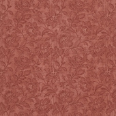 "Memoirs - Flourish Script Rust Sateen 108"" Wide Backing"