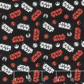 Star Wars - Logo Black Yardage