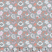 Paper Daisies - Floral Gray Yardage
