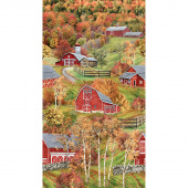 Novelty - Red Barns Multi Panel