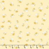 Sweet Bees - Susybee Basics Bees Yellow Yardage