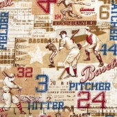 Play Ball - American Pastime Tan Yardage