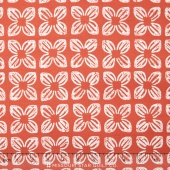 Seedling II - Block Flower Coral Yardage