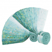 "Java Batiks Favorites Turquoises 2.5"" Strips"