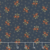 Hickory Road - Bouquet Indigo Yardage