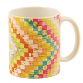 Diamonds Vintage Quilt Mug