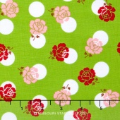 Sew Cherry 2 - Rose Green Yardage