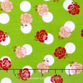 Sew Cherry 2 - Rose Green Yardage