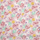 Aunt Grace - Allover Floral Pink Yardage