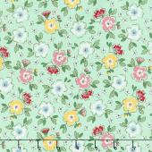 Mon Beau Jardin - Meadow Green Yardage