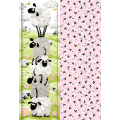Mama Lal - Sheep Growth Chart Pink Panel