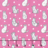 Catnip - Happy Cats Fuschia Yardage