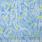 Boutiques Batiks ll - Dot Vine Blue Green Yardage