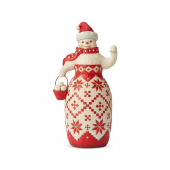 Jim Shore Heartwood Creek Nordic Noel Snowman Figure
