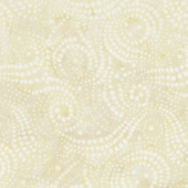 Cream of the Crop Batiks - Swirly Dots Cream Yardage