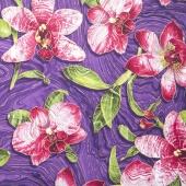 Artisan Spirit - Sandscapes Orchids Purple Metallic Yardage