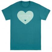Missouri Star Heart Jade T-Shirt - Small